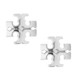 Tory Burch earrings logo silver earrings